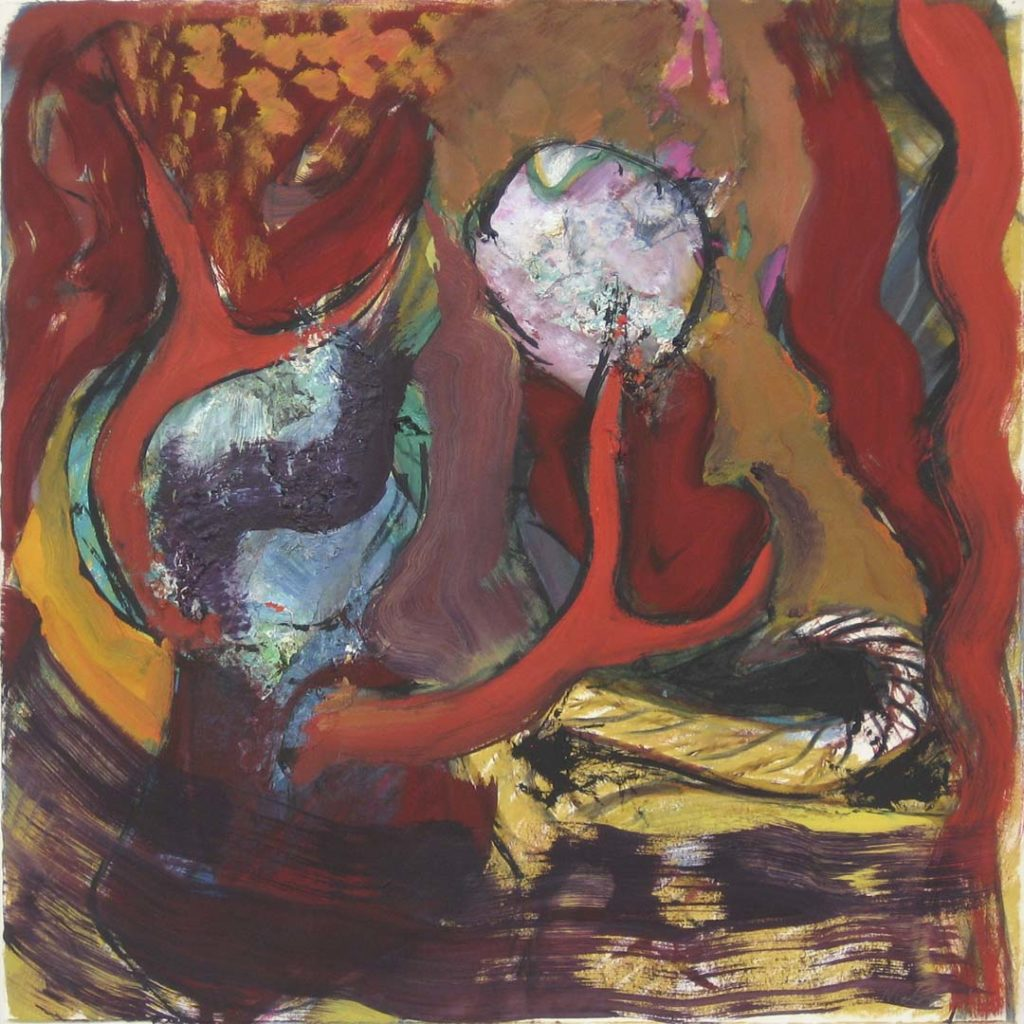 Roy Nicholson, A Lion's Tail, 1990, oil and charcoal on paper, 23 1/2 x 22 1/4 inches.