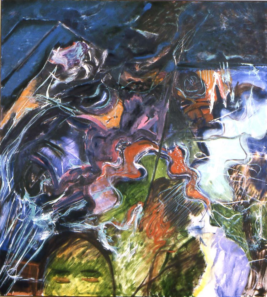 Roy Nicholson, Morning Glory, 1990, oil on canvas, 72 x 66 inches.