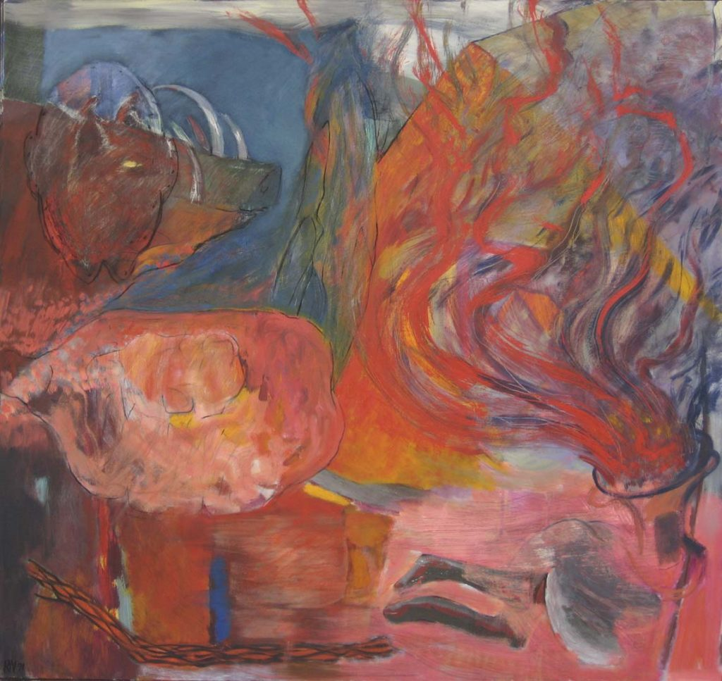 Roy Nicholson, Barbirusa, 1991 oil on canvas, 64 x 68 inches.