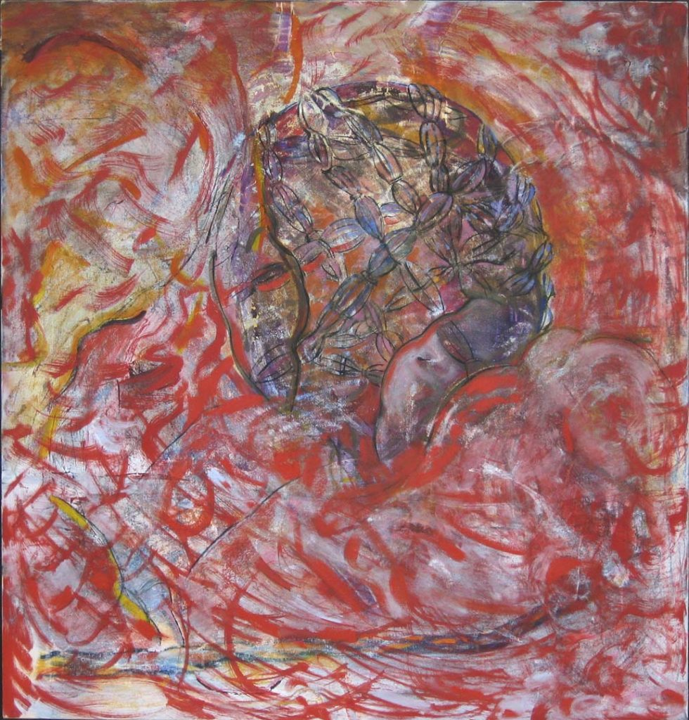Roy Nicholson, Omphalos I, 1992, oil on cnavas, 50 x 48 inches.