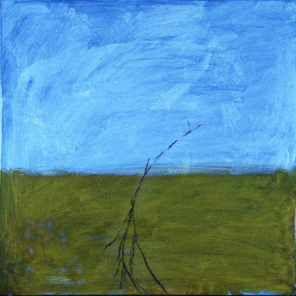 Roy Nicholson, 52 Weeks 1997 - Week 17, mixed media on linen, 24 x 24 inches.