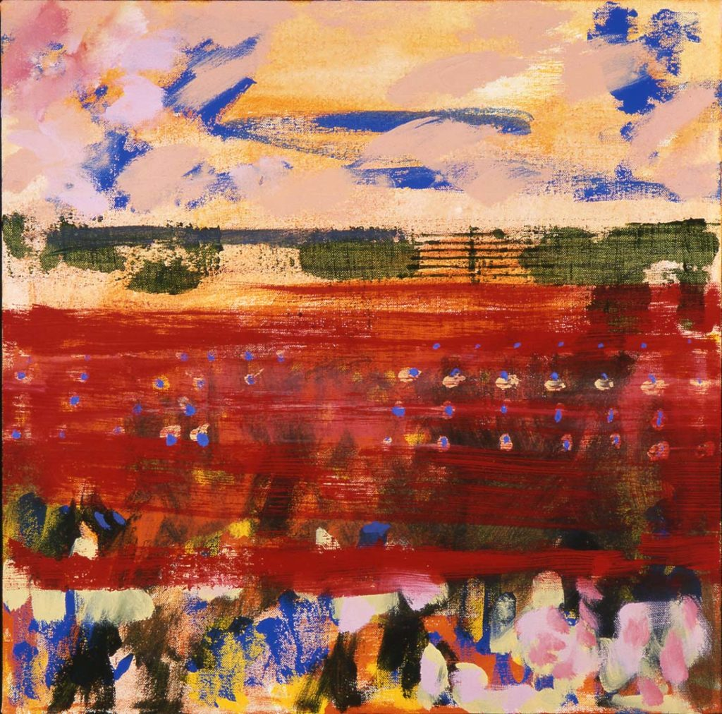 Roy Nicholson, 52 Weeks 1997 - Week 26, mixed media on linen, 24 x 24 inches.