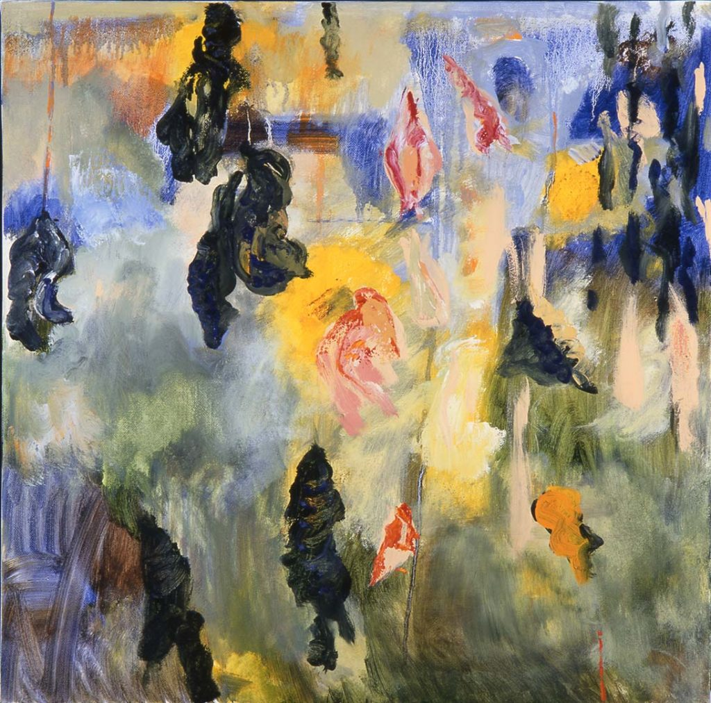Roy Nicholson, 52 Weeks 1997 - Week 44, mixed media on linen, 24 x 24 inches.