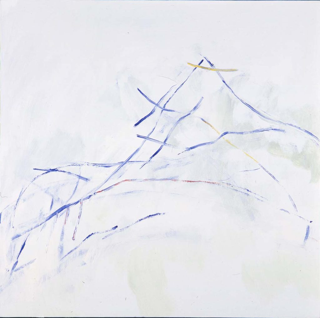 Roy Nicholson, 52 Weeks 1997 - Week 51, mixed media on linen, 24 x 24 inches.