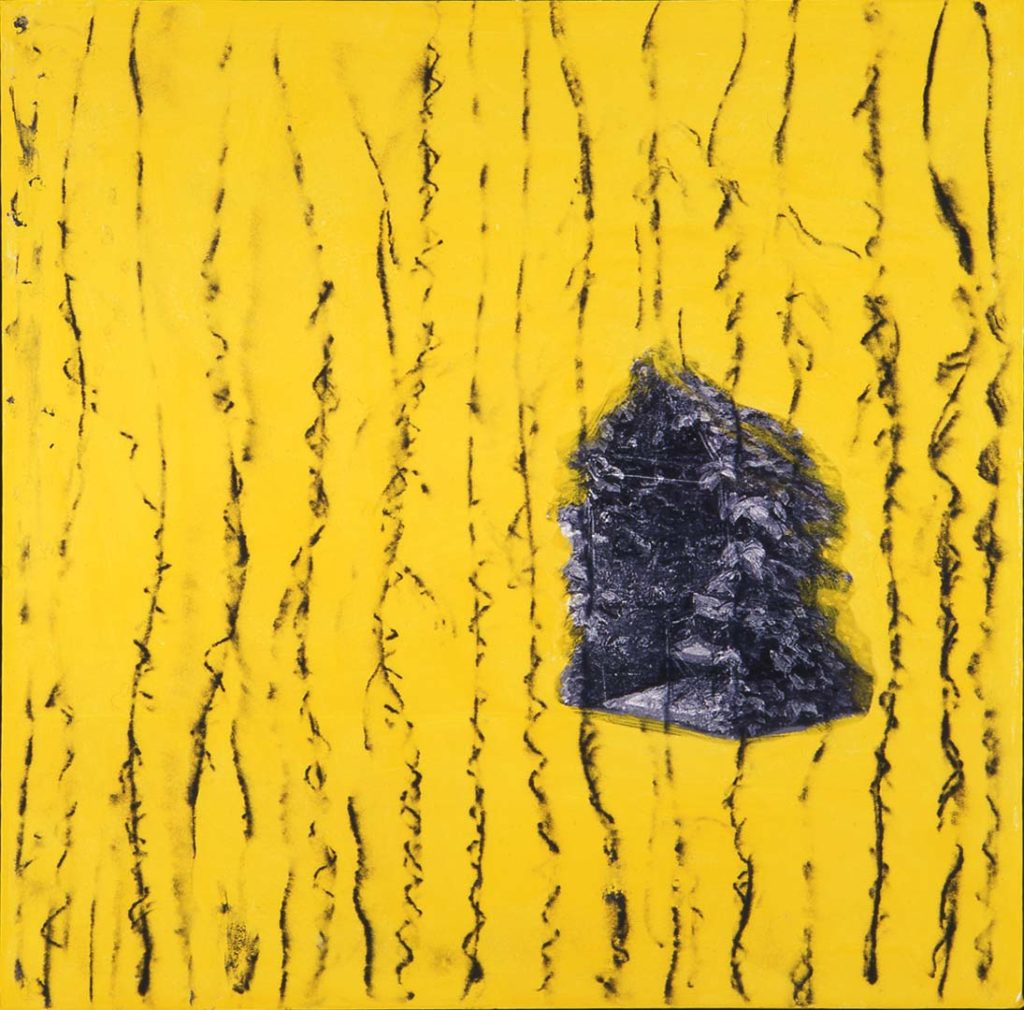 Roy Nicholson, 52 Weeks 1997 - Week 8, mixed media on linen, 24 x 24 inches.