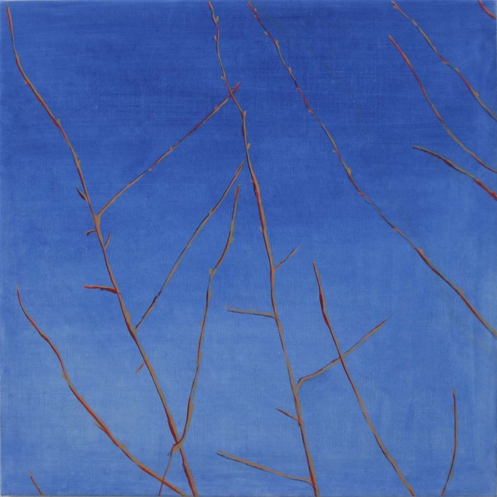 Roy Nicholson, 52 Weeks II - Week 35, oil on linen, 24 x 24 inches.