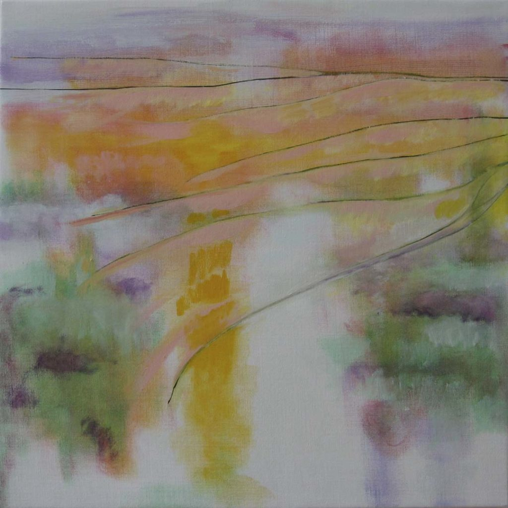 Roy Nicholson, 52 Weeks II - Week 12, oil on linen, 24 x 24 inches.