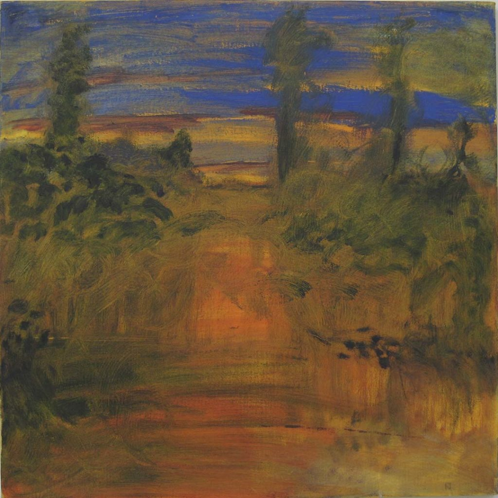 Roy Nicholson, Gloaming #2 1998, acrylic and oil on linen, 24 x24 inches.