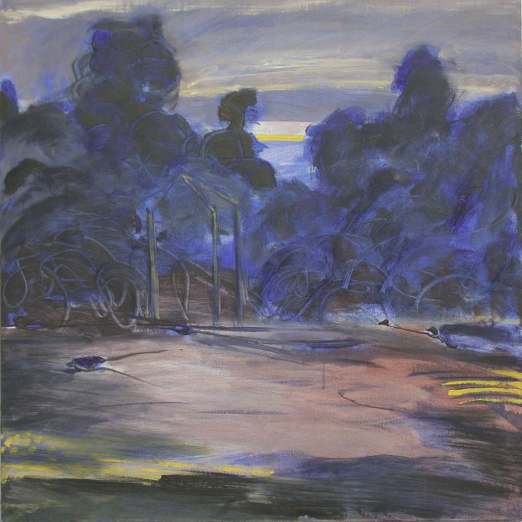 Roy Nicholson, Gloaming # 6 1999, acrylic and oil on linen, 24 x 24 inches.