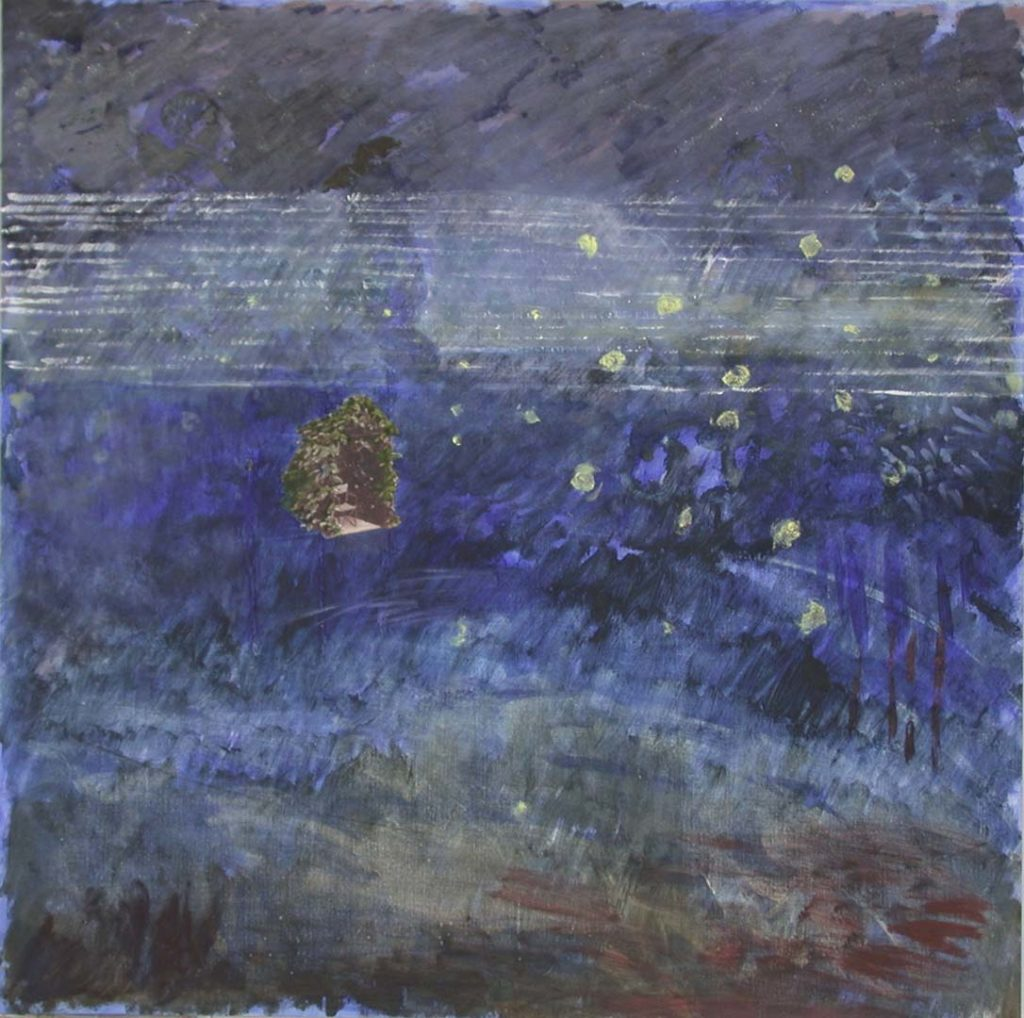 Roy Nicholson, Gloaming #7, 1999, acrylic, oil collage, carborundum, specular hematite on linen