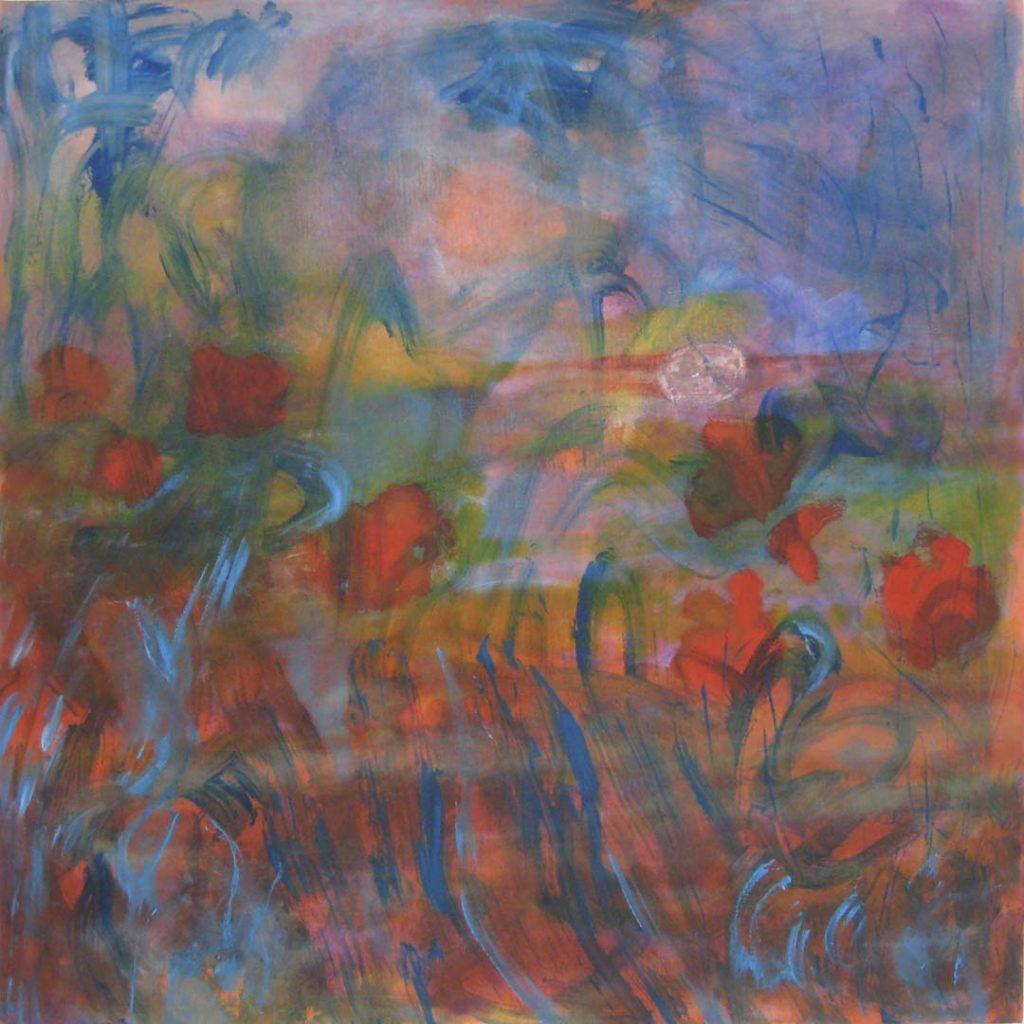 Roy Nicholson, E,L's Gloaming #17, 2001-2006, oil linen, 48 x 48 inches.