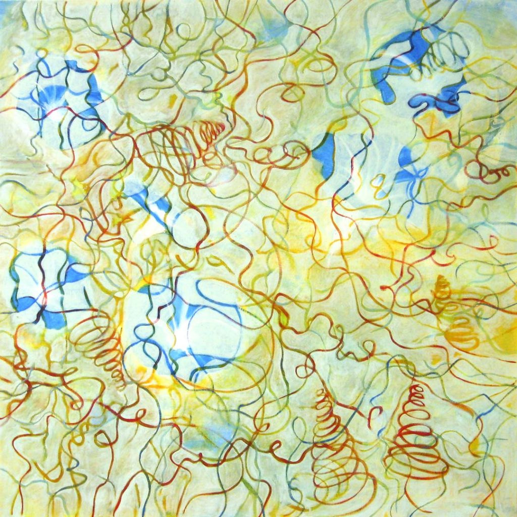 Toxic Garden 5 (Ipomoea), 2011, oil on linen 48x 48 inches.