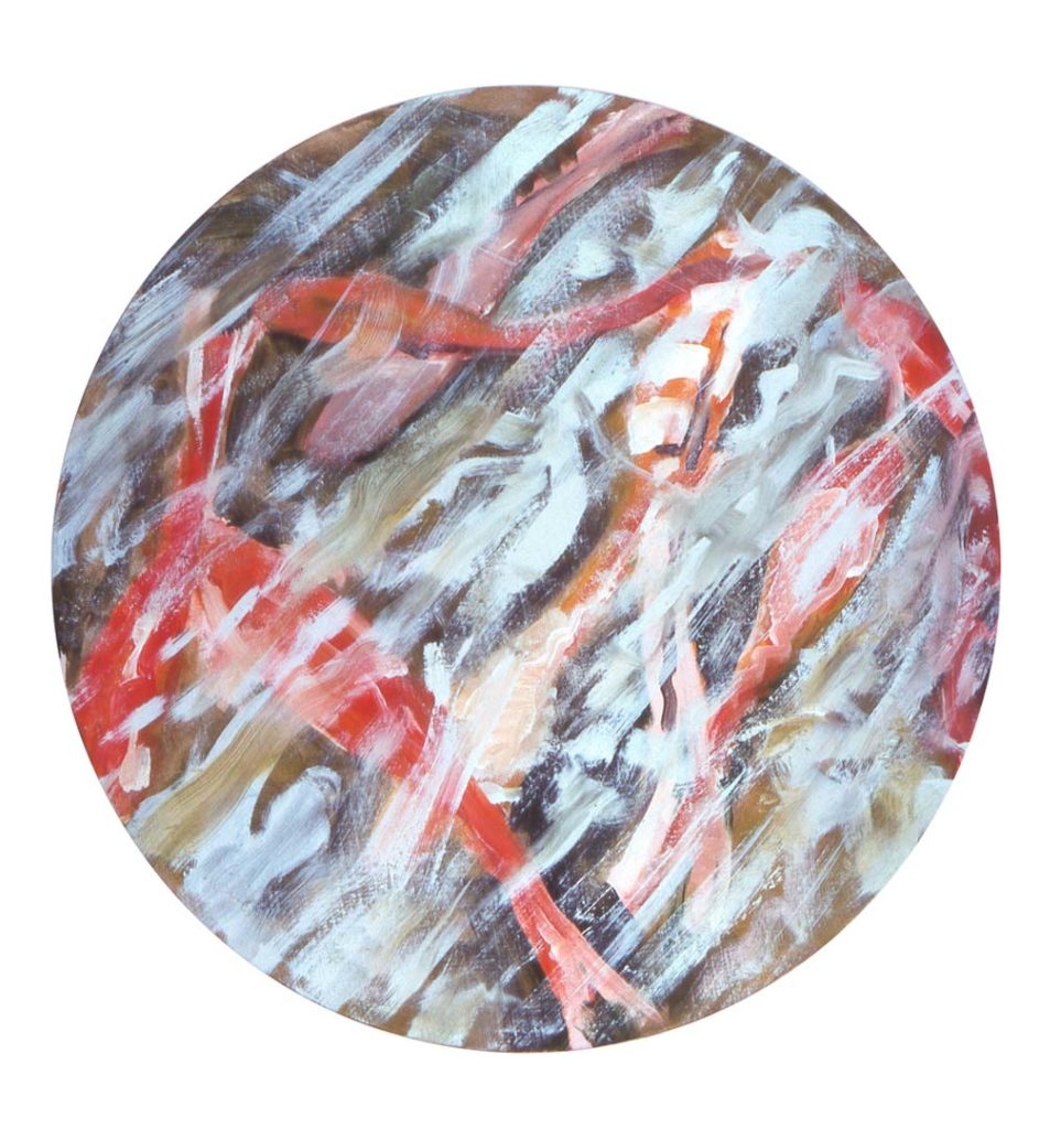 Goldfish (79) (Summer) 1984, Alkyd on canvas, 35.5 inches diameter