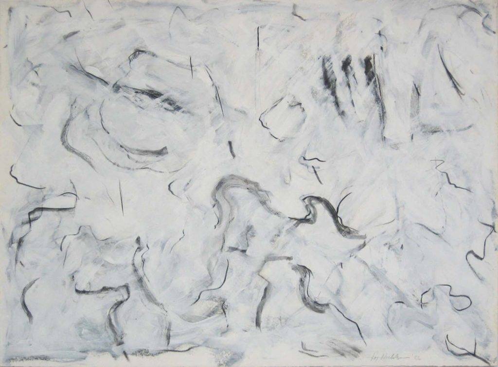 Goldfish (87) 1984, Charcoal and acrylic on paper, 37 x 50 inches
