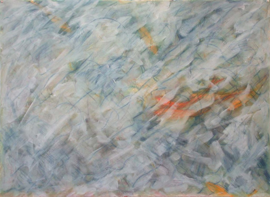 Goldfish (94) 1985, Alkyd and oil pastel on paper, 36.5 x 50 inches